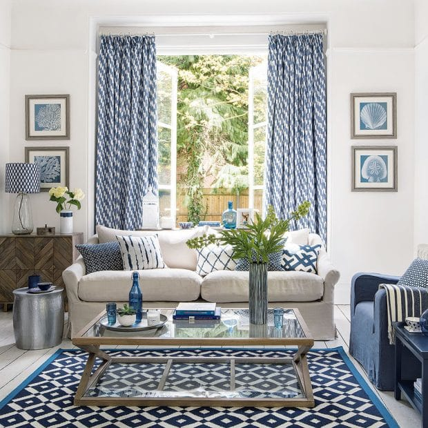 Blue And Beige Living Room: 31 Stunning Blue Living Room Ideas