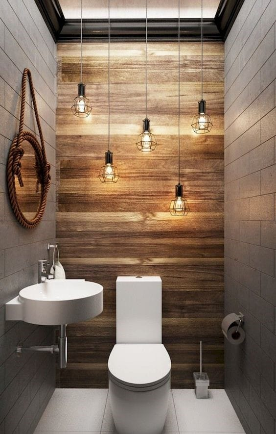 51 astonishing powder room ideas rhythm of the home - Tiny powder room ideas ...