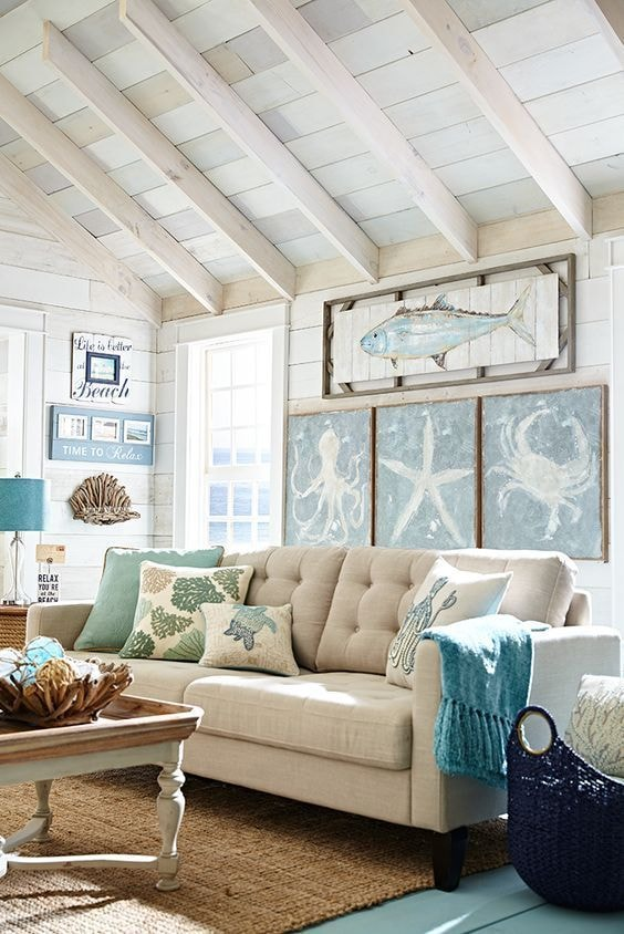 28+ Beach Chic Living Room Ideas Pictures
