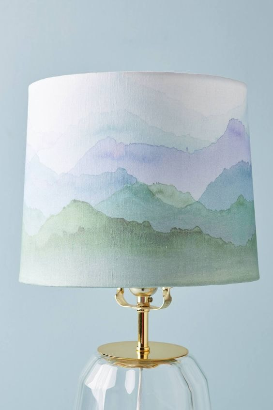 How To Paint A Lampshade Rhythm Of The Home