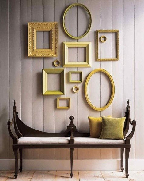 24 Ways To Decorate With Empty Frames Rhythm Of The Home
